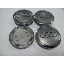 Колпачок в диск AUDI 60/56мм серый+хром 4B0 601 170