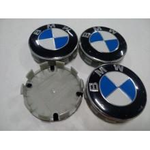 Колпачок в диск BMW 56мм синий+белый
