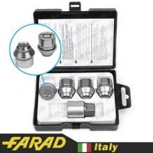 Секретные гайки 12х1,5 L26мм Конус Вращающееся кольцо Farad Starlock Ford (2 keys)