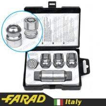 Секретные гайки 12х1,5 L30мм Сфера Вращающееся кольцо Farad Starlock Honda (2 keys)