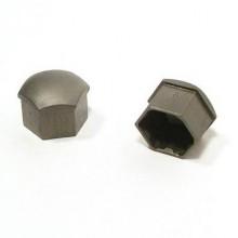 Колпачки на болты пластик черный (20шт) под 21 голову
