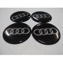 Наклейка на диск AUDI черный 50мм