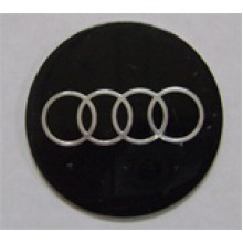 Наклейка на диск Audi 56 плоский черный