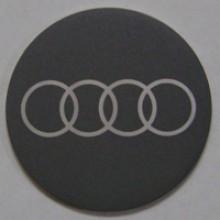 Наклейка на диск Audi 50 выпуклый темно-серый