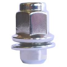 Гайки 12х1,25 L37,5 с шайбой 21 ключ Хром (Nissan, Infiniti)
