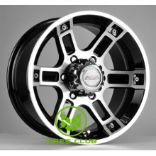 Racing Wheels H-468 8x16 6x139,7 ET10 DIA110,5 (BK-FP)