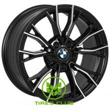 Replica BMW (QC1197) 8x17 5x120 ET30 DIA72,6 (MBL)