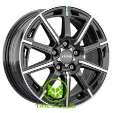 Ronal R60 Blue 6,5x16 5x100 ET40 DIA68 (jet black front diamond cut)