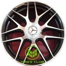 Replica Mercedes (MR251) 10x22 5x130 ET36 DIA84,1 (MBLR)
