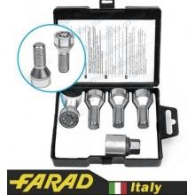 Секретные Болты 12х1,25 L25 Конус Вращающееся кольцо Farad Starlock (2 keys)